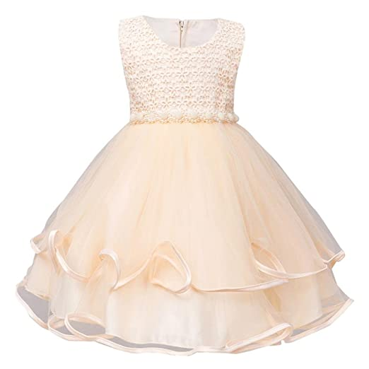 8a4f0f1ac53e Amazon.com  KONFA Baby Girls Flowers Bridesmaid Princess Dress ...