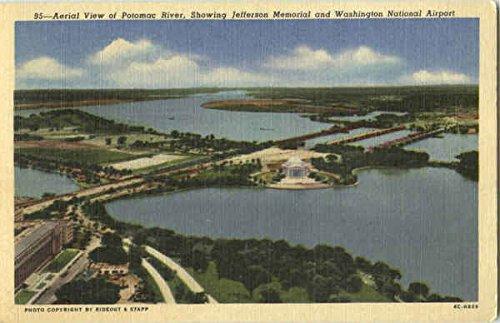 Potomac and Reagan National Airport Washington, District Of Columbia Original Vintage -