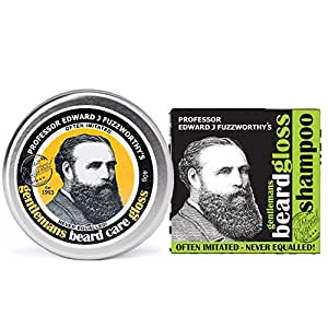 Beard Care Kit Professor Fuzzworthy Beard Gloss Balm & New Apple Cider Tonic Beard Shampoo Bar | 100% Natural & Organic Ingredients & Kunzea Essential Oils | Leatherwood Honey from Tasmania Australia