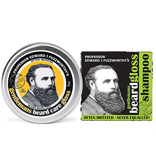 Beard Care Kit Professor Fuzzworthy Beard Gloss Balm & New Apple Cider Tonic Beard Shampoo Bar | 100% Natural & Organic Ingredients & Kunzea Essential Oils | Leatherwood Honey from - And Ship Shop Australia