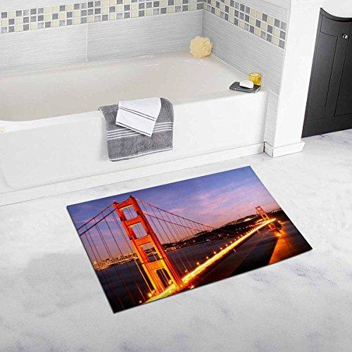 Bridge Engineering Micro (InterestPrint Golden Gate Bridge Civil Engineering History Travel Destinations View Luxury Microfiber Washable Bath Rug for Floor Bathroom Bedroom Living Room)
