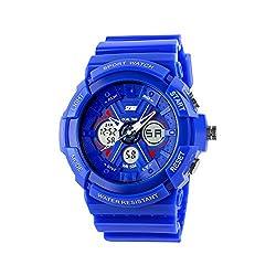 Boys Watch, Sports Watches, LED Analog Digital Display Watches Sport Waterproof for Boy Girls Kids Blue