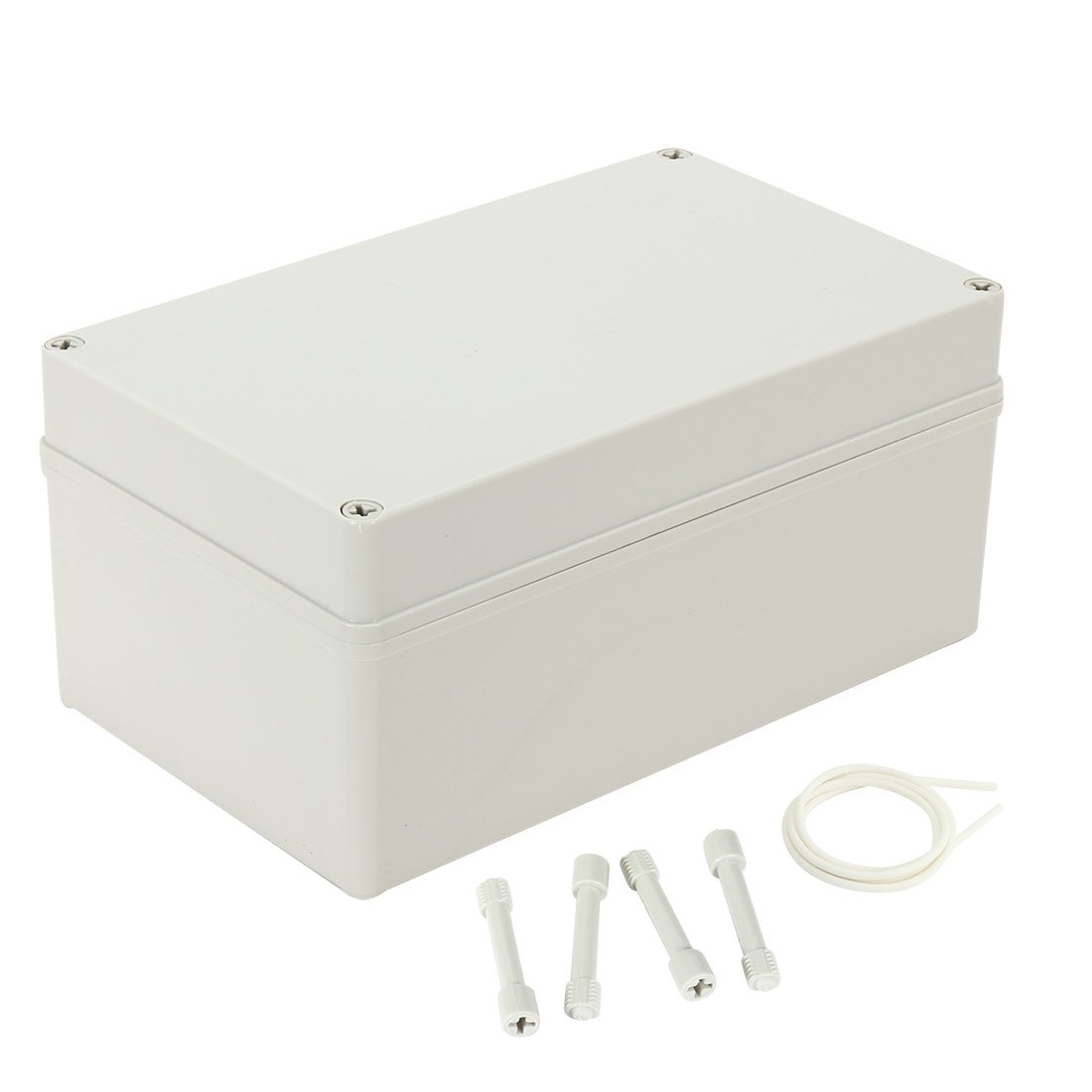uxcell 9.76''x5.82''x4.53''(248mmx148mmx115mm) ABS Dustproof IP65 Junction Box Universal Electric Project Enclosure