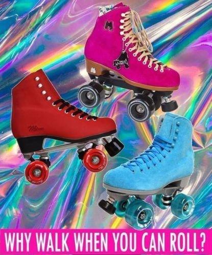 Let's Roll ROLLER SKATING Skates Personalized Edible Frosting Image 1/4 sheet Cake -