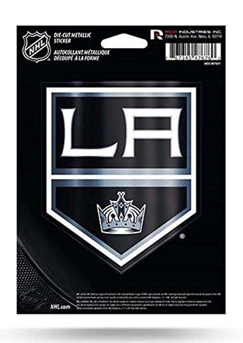 (Rico Industries NHL Los Angeles Kings Die Cut Metallic StickerDie Cut Metallic Sticker, Black, 5.75 x 7.75-inches)