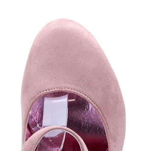 Schuhtempel24 Damen Schuhe Spangenpumps Pumps Beige Trichterabsatz 11 cm High Heels
