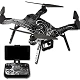 MightySkins Protective Vinyl Skin Decal for 3DR Solo Drone Quadcopter wrap cover sticker skins Black Flourish