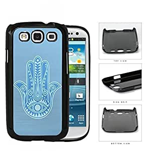 Baby Blue Hamsa Palm With All-Seeing Eye Hard Plastic Snap On Cell Phone Case Samsung Galaxy S3 SIII I9300