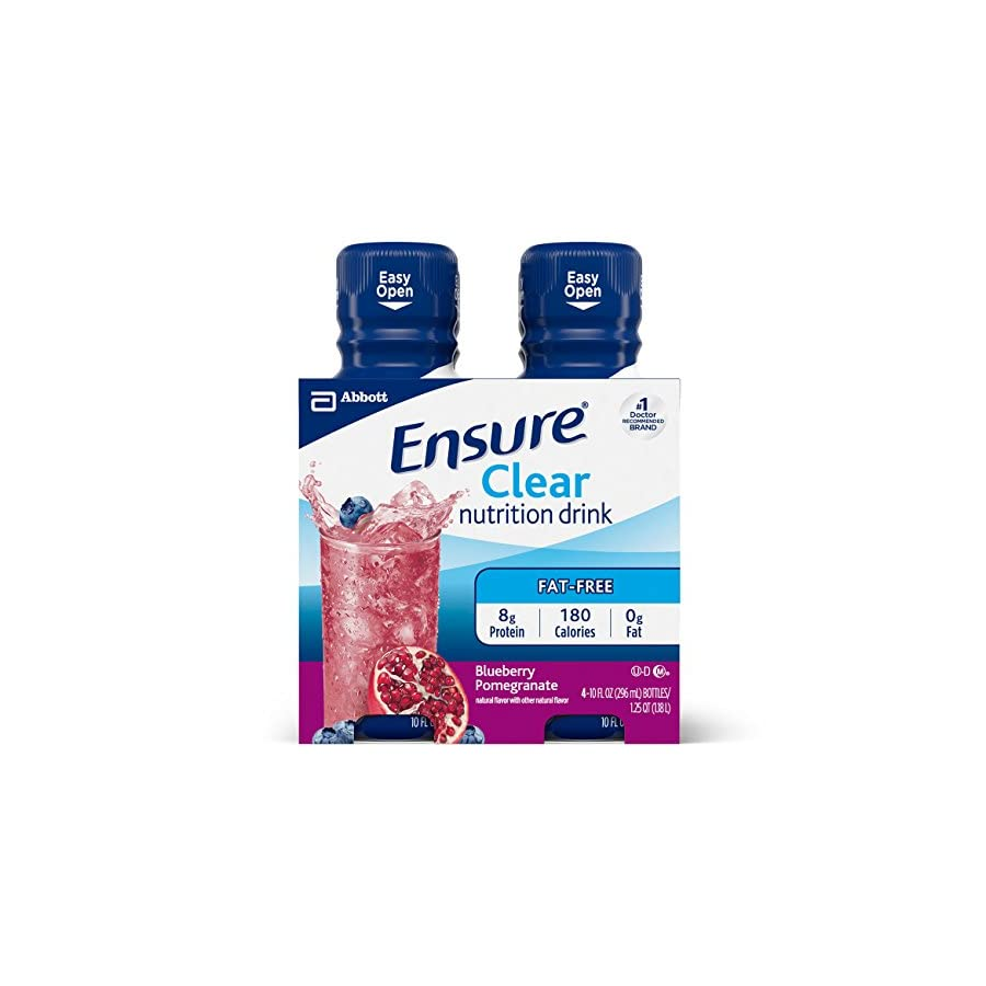 Ensure Clear Nutrition Drink, Blueberry Pomegranate, 10oz, 12 count