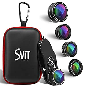 Phone Camera Lens Kit - 5 in 1 Universal Set For iPhone, Samsung, Mobile Phones and Tablets - 2X Zoom Telephoto, 198 Fisheye, 0.63X Wide Angle, 15X Macro, CPL Filter Lens For Cell Phones …