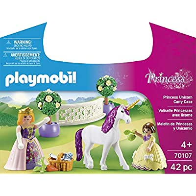 PLAYMOBIL Princess Unicorn Carry Case: Toys & Games
