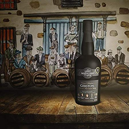 Gerston Classic Selection from The Lost Distillery Company. 700ml, 43% Abv, Non Chill Filtered, Blended malt Scotch Whisky. Smoky and salty Highland style. Lost Scotch Whisky Legends Reborn.