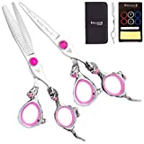 Washi shear thinner CR 2 Creation Set with free scissor brooch 5.5 or 6.0 inch Pink, Purple or Green