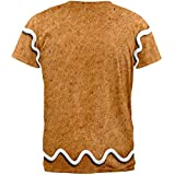 Gingerbread Man Costume All Over Adult T-Shirt - Small
