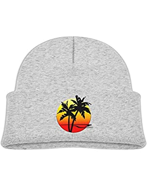 Funny Palm Tree Printed Baby Boy Girls Winter Hat Beanie