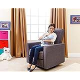 Abbyson® Hampton Nursery Swivel Glider Recliner Chair, Gray