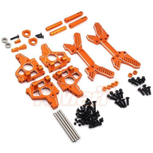 Yeah Racing Aluminum Endurance Conversion Kit For HPI Sprint 2 Orange #SPT2-S02OR (2 Kits Racing)