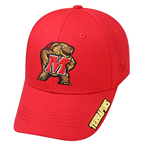 Top of the World NCAA-Premium Collection-One-Fit-Memory Fit-Hat Cap-Maryland Terrapins