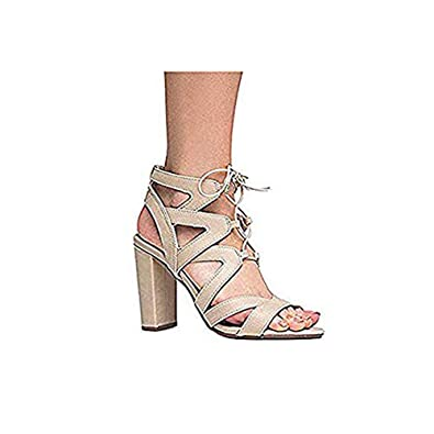 17271322e9e J. Adams Lace Up Cutout Open Toe High Heel Sandal - Dress Wedding Shoe -  Sexy Comfortable Pump - Divine by