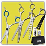 """Joewell M4 5.5"""" Shear / Scissor Combo + Thinner, Blender, Iron & Case"""