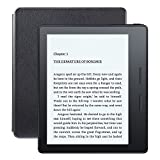 Kindle Oasis E-reader with Leather Charging Cover - Black, 6'' High-Resolution Display (300 ppi), Wi-Fi + Free Cellular Connectivity - Includes Special Offers