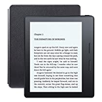 """Kindle Oasis E-reader with Leather Charging Cover - Black, 6"""" High-Resolution Display (300 ppi), Free 3G + Wi-Fi - Includes Special Offers"""