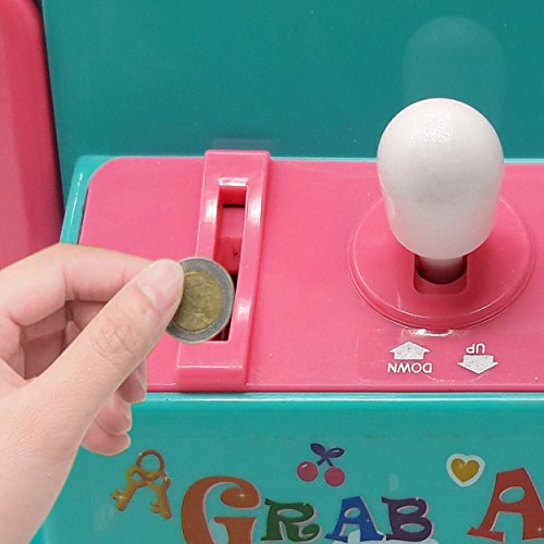 Claw Home Arcade Game Prize Grabber Carnival LED Lights Animation Adjustable Sounds USB Port Cable with 10 Plush Toys and 12 Filled Eggs by TSF TOYS (Image #3)
