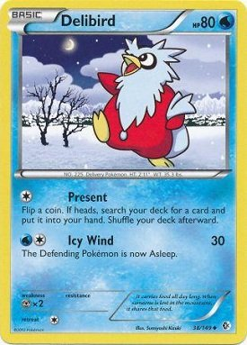 Pokemon - Delibird (38/149) - BW - Boundaries Crossed