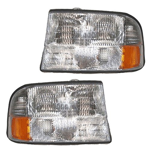 Koolzap For 98-04 Sonoma Pickup without-Fog Lamp Headlight Headlamp Left Right Side SET PAIR
