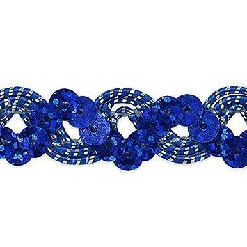 Expo International Reba Ric Rac Sequin Braid Trim Embellishment, 20-Yard, Turquoise/Silver IR6967TRSL-20