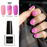 Clearance!Nail Polish,ZYooh 7ml Temperature Change Soak Off UV Led Nail Varnish Nail Art Manicure (G)