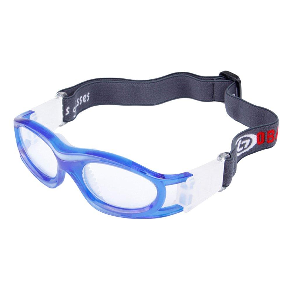 zhouba Kid Sport Brillen Eyewear Basketball Schü tzen fuß ball Soccer Elastic Band Gurt blau Einheitsgrö ß e