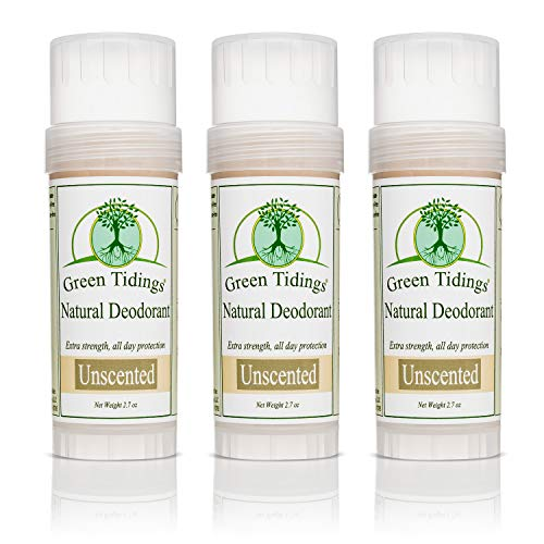 Green Tidings All Natural Deodorant Unscented 2.7oz 3 PACK