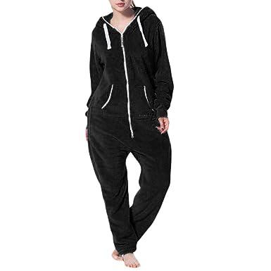 92b4cae7b3f15 Bas de Pyjama en Polaire Hiver Ensemble Combinaison Femme,Overdose Soldes  Comfort Manches Longues Pantalon