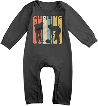Retro 1970s Style Curlers Silhouette Curling Long Sleeve Infant Baby Bodysuit for 6-24 Months Bodysuit