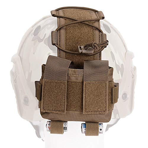 EMERSONGEAR Molle Tactical Helmet Pouch Removable Gear Pouch Tactical Fast Helmet Accessories Utility Pouch Helmet Cover Counterweight Bag, Counterbalance Weight Bag Coyote Brown