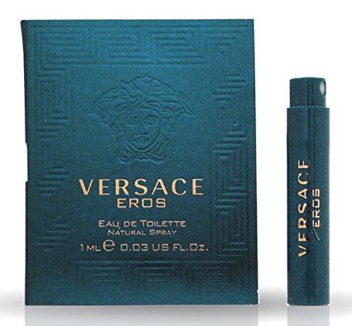 Versace Eros Eau De Toilette Travel Sample Spray Vial .03 Oz/1 Ml
