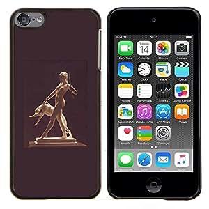 Stuss Case / Funda Carcasa protectora - Estatua Mujer Desnuda Desnuda perro antiguo Dios - Apple iPod Touch 6 6th Touch6
