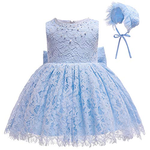 Coozy Baby Girls Dress Infant Princess Christening Baptism Party Birthday Formal Dress (Baby Blue (Style 4), 3M/0-6months)