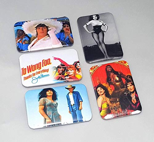 Too Wong Foo Thanks For Everything Julie Newmar Movie Drag Queen Magnets Patrick Swayze Gifts Set Of 5 LGBT Kitchen Artwork