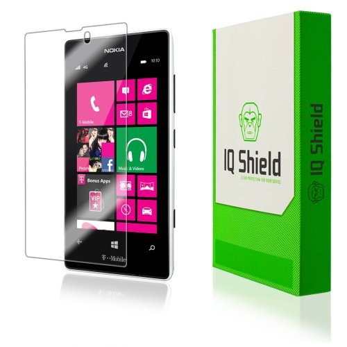 IQ Shield Screen Protector Compatible with Nokia Lumia 521 LiquidSkin Anti-Bubble Clear Film (Nokia 521 Screen Replacement)