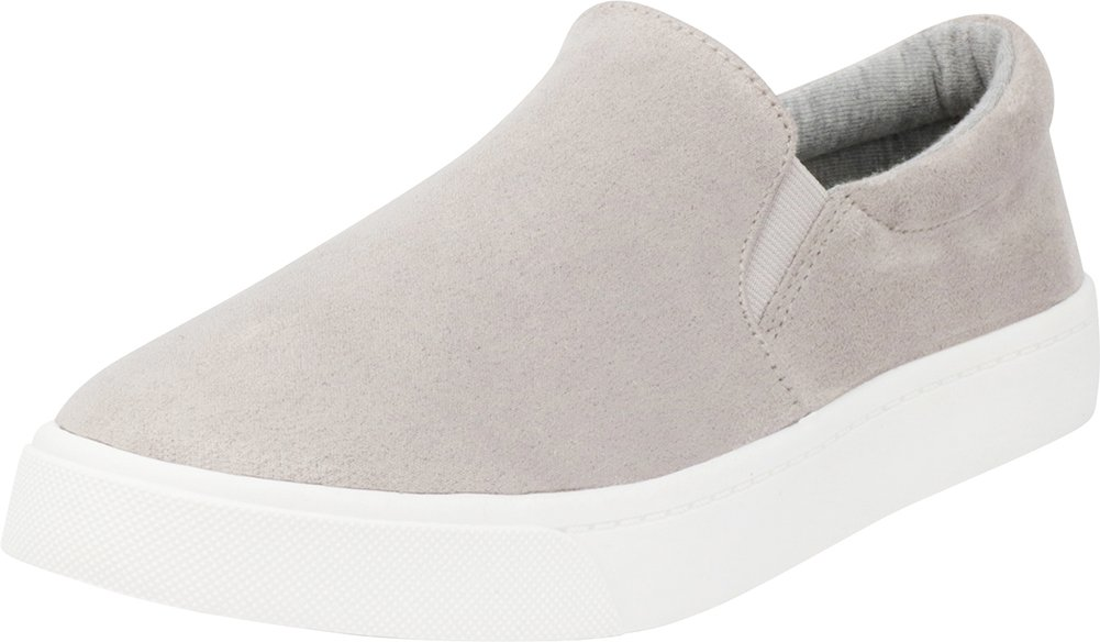 Cambridge Select Women's Classic Casual Closed Round Toe Slip-On Stretch White Sole Flatform Fashion Sneaker B07CRSJ95C 6.5 B(M) US|Grey Imsu