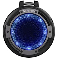Bluetooth Speaker, MindKoo Portable Wireless Outdoor Speaker with IPX8 Waterproof, Built in Mic, 4 LED Light Modes, Super Bass and HD Sound for iPhone, iPad, Android Phones, Tablets, Laptops and More