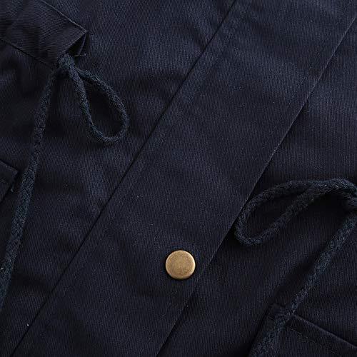 Donna Da Autunno Bottoni Slim Vicgrey Con Moda Fit Lungo Gilet Giacca Nero Cardigan Colore Inverno Puro ❤ Outwear Eleganti Parka Ragazze Cappotto wqCExftC
