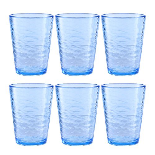 Premium Acrylic Drinking Glass, Set of 6, 16.6 oz, BPA-Free,