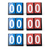 GOGO Set of 6 2-Digital Desktop Sports Scoreboards/Scorekeepers