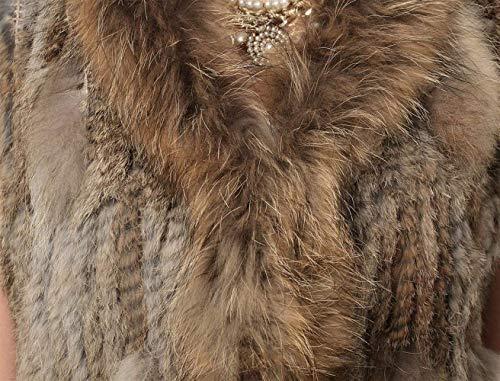 Houppe Taille Battercake Casual Braun Blouson Manteau Art Elégante Femme Grande Dame Hiver Gilet Fourrure Confortables De Warm Automne Outerwear Sleeveless qqHO6Rr