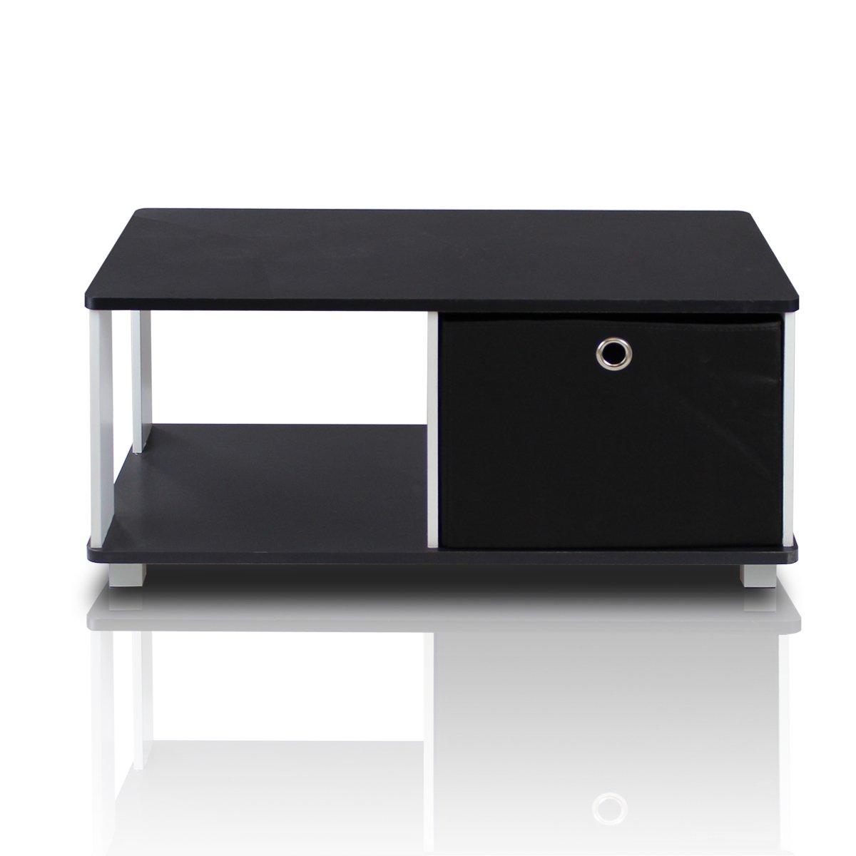 Amazoncom Furinno BKBK Coffee Table With Bin Drawer Black - Furinno coffee table