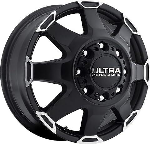 ULTRA - type 25 phantom dually - 17 Inch Rim x 6.5 - (8x200) Offset (-140) Wheel Finish - satin black with diamond cut accents