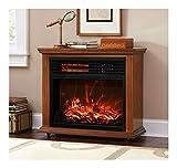 Large Room Electric Quartz Infrared Fireplace Heater Deluxe Mantel Oak / Walnut (honey oak)
